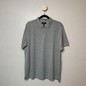 NWT Nordstrom Men's Shop Short Sleeve Gray Polo Lg